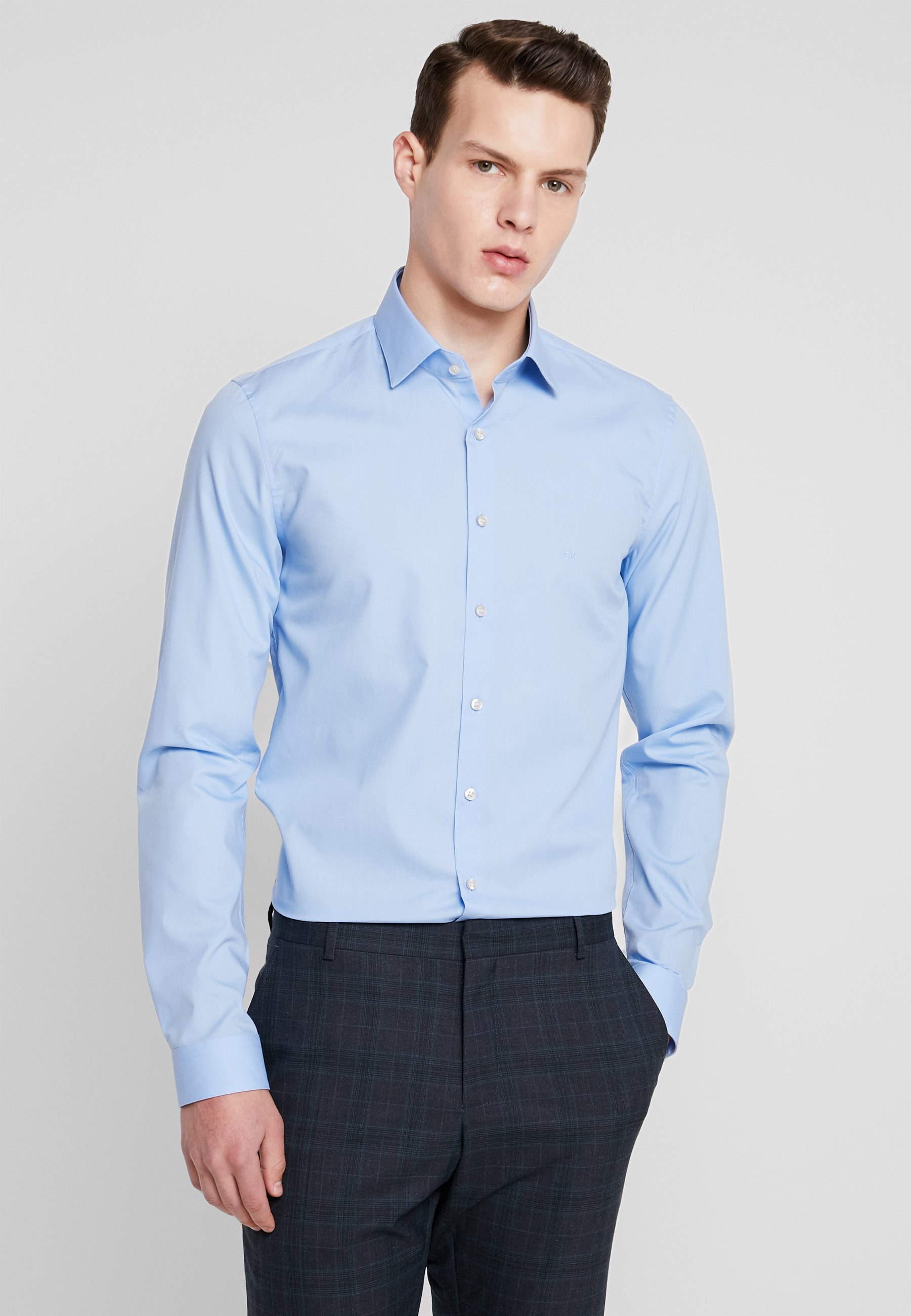 Calvin Classique Slim Tailored Klein Poplin Blue Extra FitChemise 4A5jLR