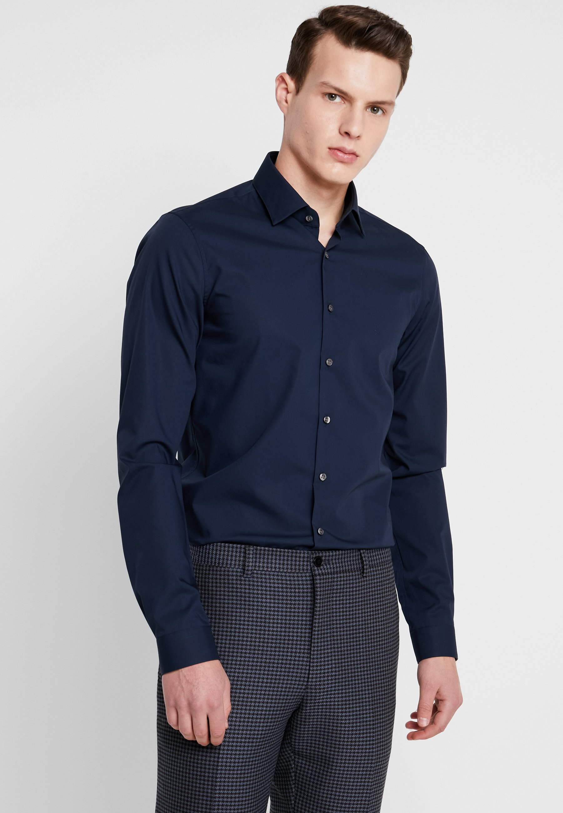 Poplin Blue Klein Extra Calvin Slim FitChemise Classique Tailored wNOXn0k8P