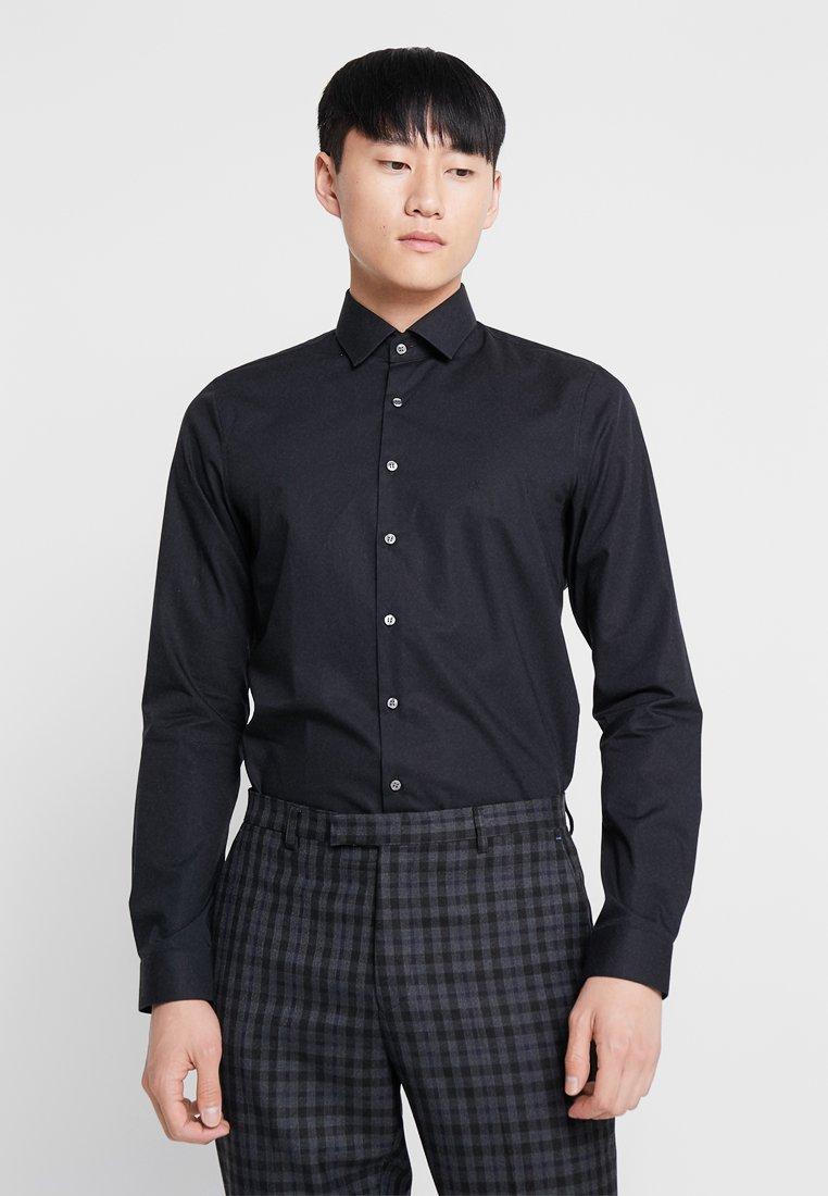 Calvin Klein Tailored - POPLIN EXTRA SLIM FIT - Kauluspaita - black