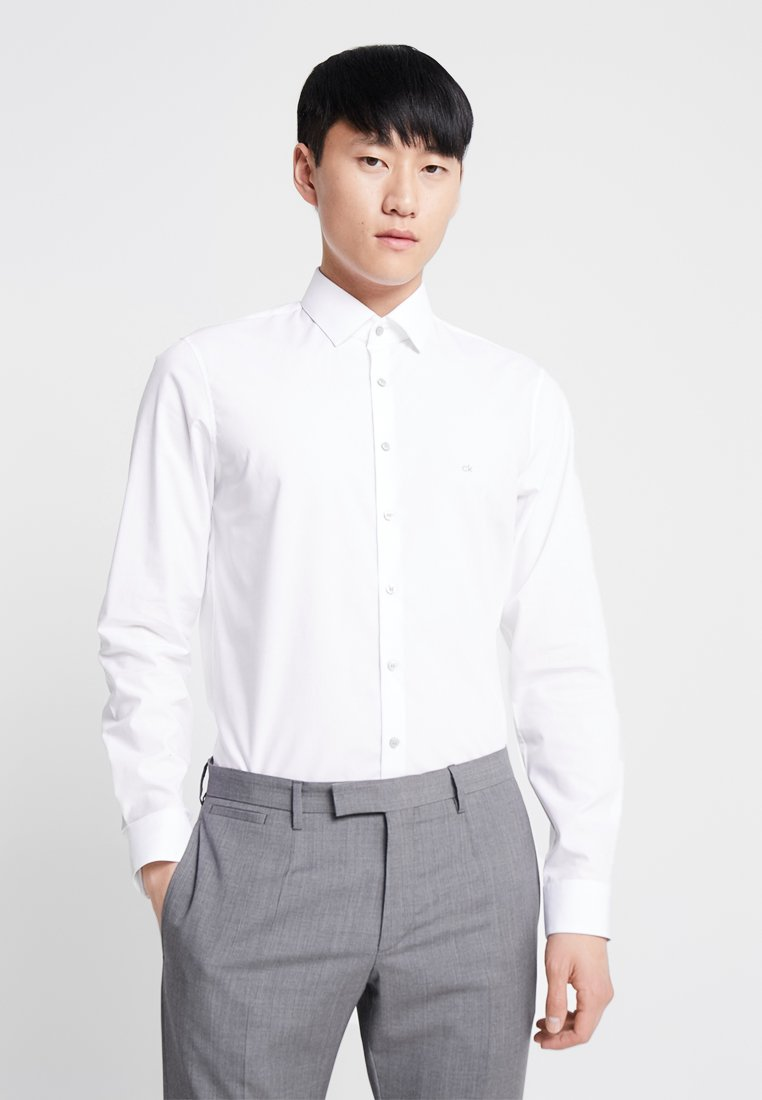 Calvin Klein Tailored - STRETCH SLIM - Businesshemd - white