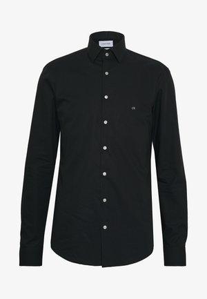 STRETCH SLIM - Zakelijk overhemd - black