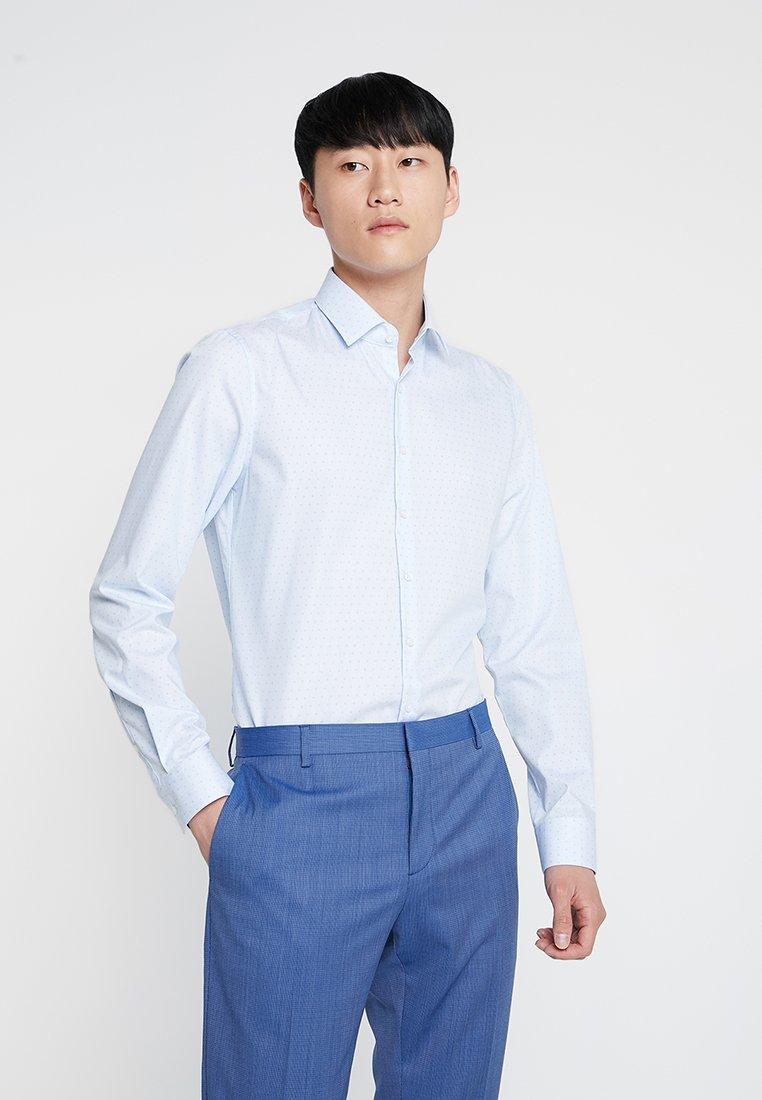 Calvin Klein Tailored - PRINTED EASY IRON SLIM SHIRT - Formální košile - blue