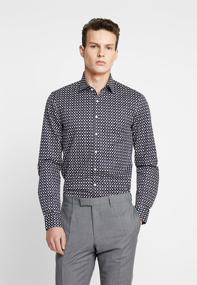Calvin Klein Tailored - PRINTED EASY IRON SLIM - Hemd - blue