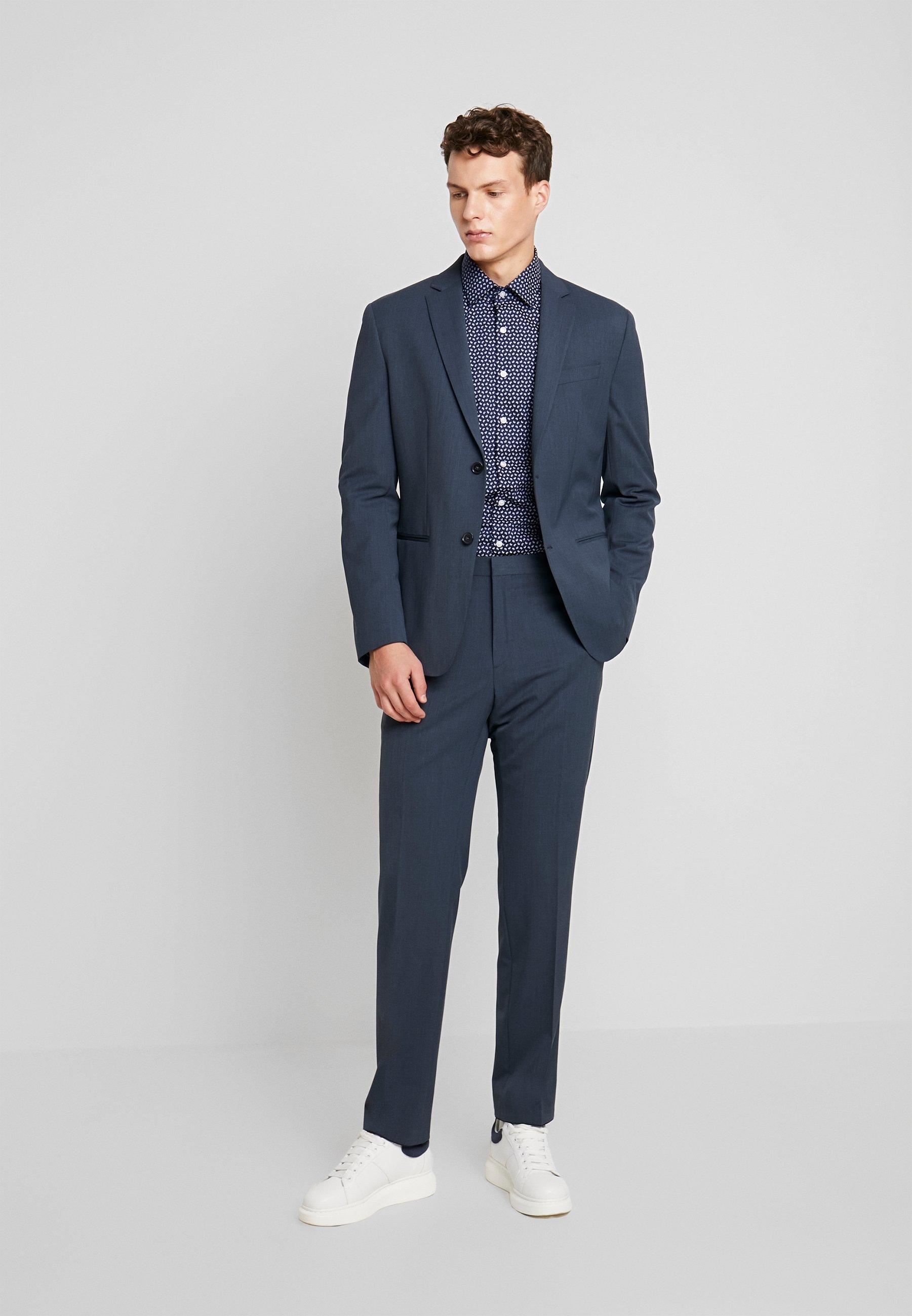 Calvin Klein Tailored Paisley Printed Slim Shirt - Kostymskjorta Blue