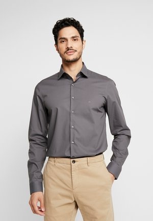 POPLIN SLIM FIT - Kauluspaita - charcoal
