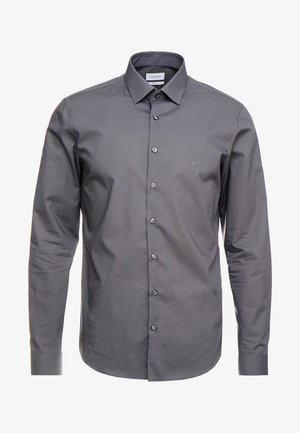 POPLIN SLIM FIT - Kostymskjorta - charcoal