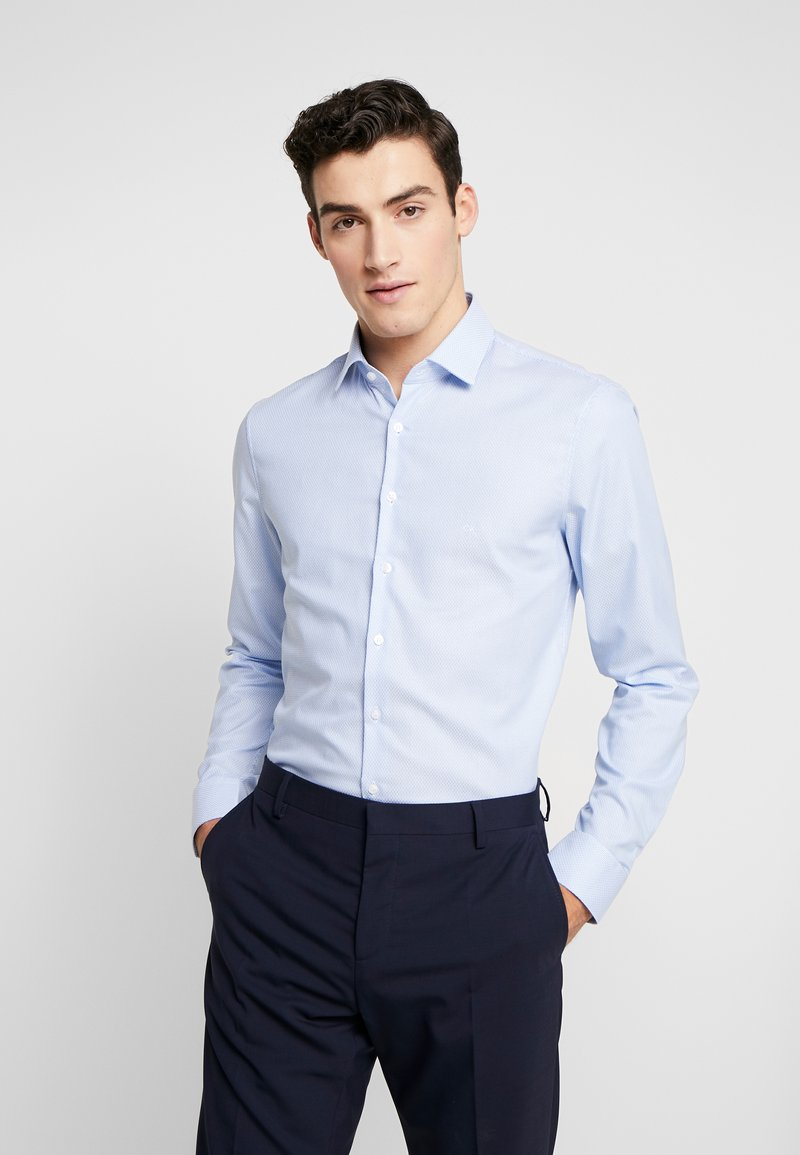 Calvin Klein Tailored - STRUCTURE EASY IRON SLIM  - Chemise - blue