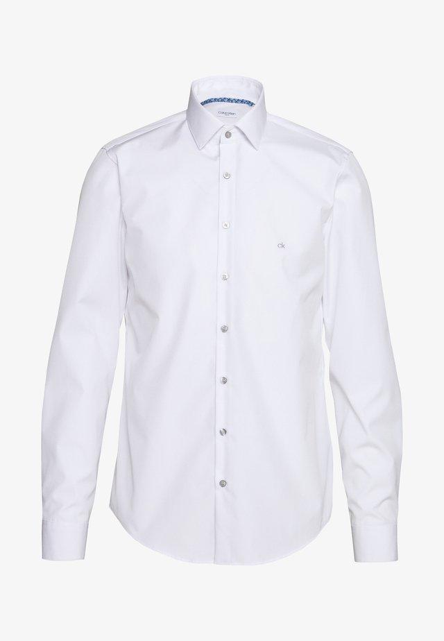 CONTRAST FLOWER PRINT SLIM - Businesshemd - white