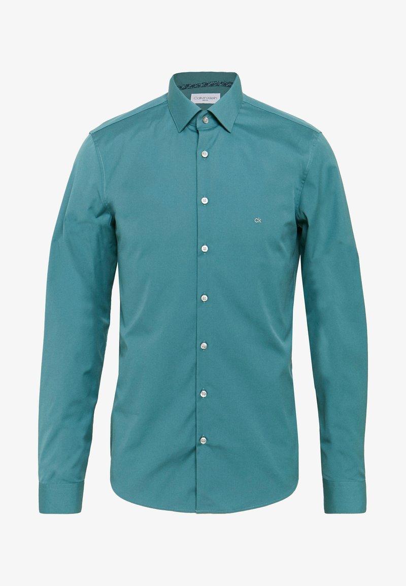 Calvin Klein Tailored - CONTRAST FLOWER PRINT SLIM - Camicia elegante - blue