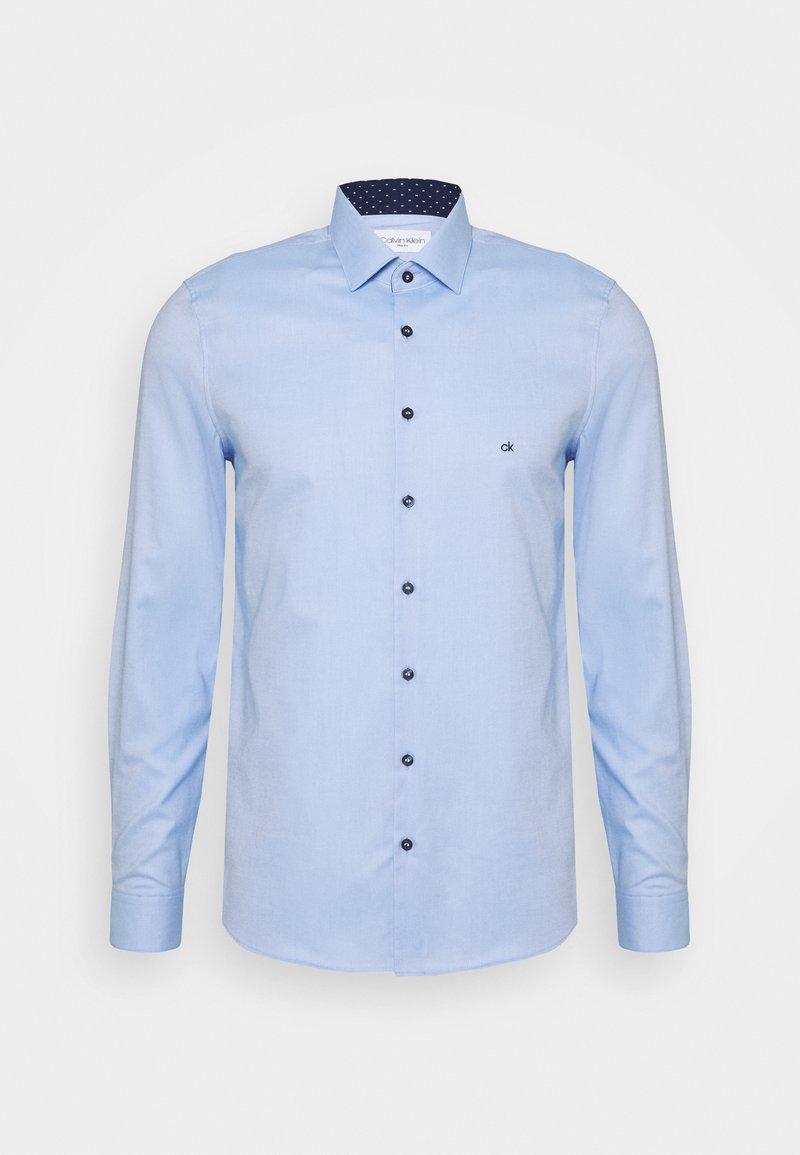 Calvin Klein Tailored - CONTRAST PRINT SLIM SHIRT - Camicia elegante - blue
