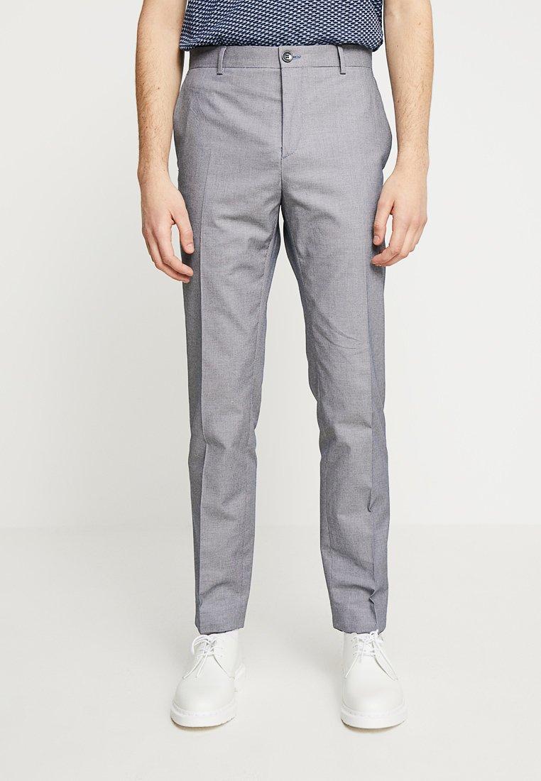 Calvin Klein Tailored - BIRDSEYE PANT - Kalhoty - blue