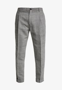 Calvin Klein Tailored - GLENCHECK PLEATED TAPERED PANT - Trousers - black - 3
