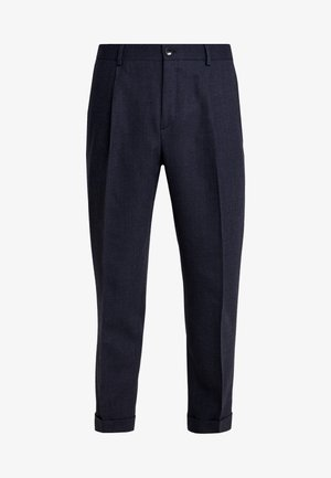 TEXTURED PLEATED PANT - Kalhoty - blue