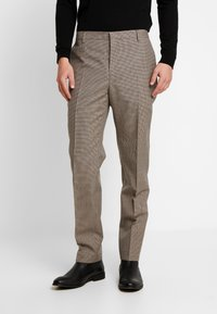 Calvin Klein Tailored - HOUNDSTOOTH EXTRAFINE - Suit trousers - grey - 0