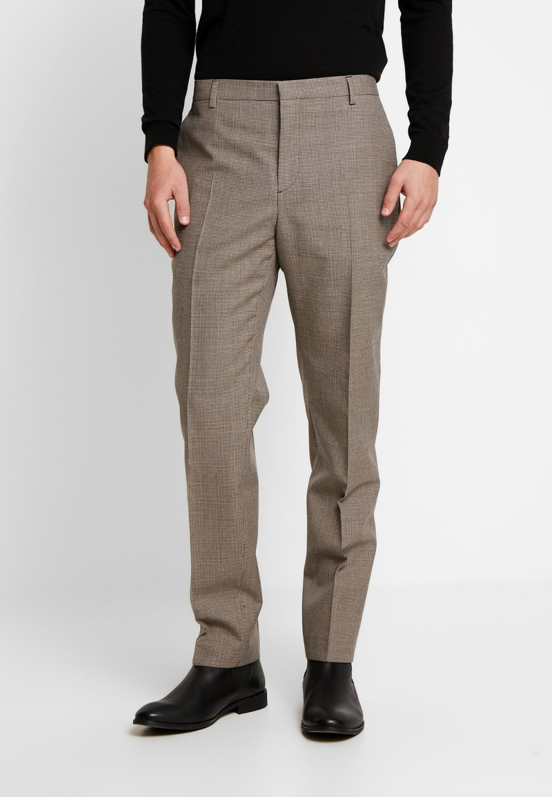 Calvin Klein Tailored - HOUNDSTOOTH EXTRAFINE - Suit trousers - grey