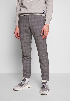 CHECK EXTRA FINE PANTS - Trousers - grey