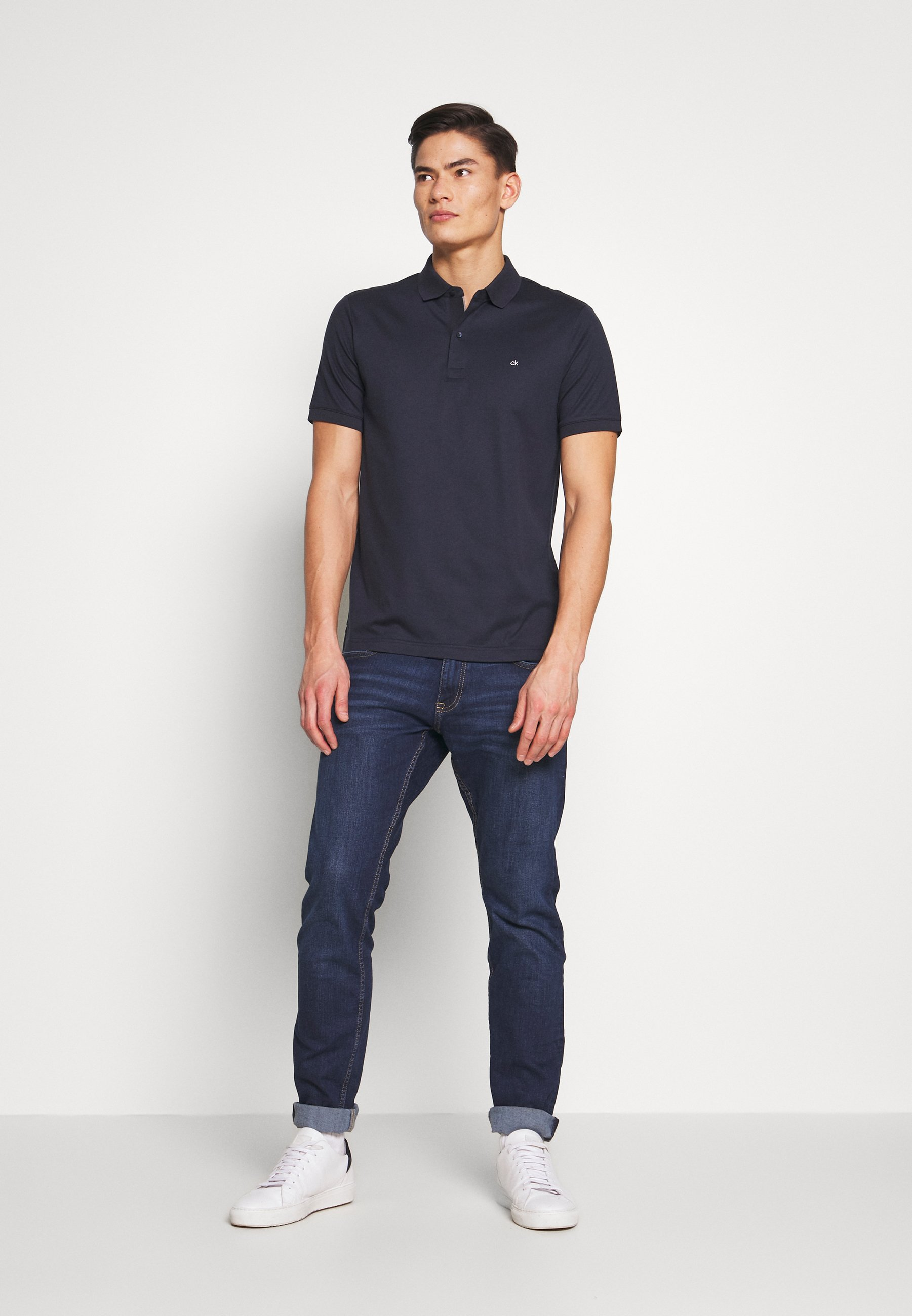 Calvin Klein Tailored SOFT INTERLOCK SLIM - Polo - blue