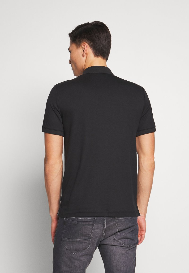 Calvin Klein Tailored SOFT INTERLOCK SLIM - Poloskjorter - black