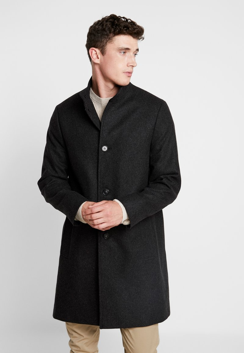Calvin Klein Tailored - BLEND FUNNEL COAT - Wollmantel/klassischer Mantel - grey