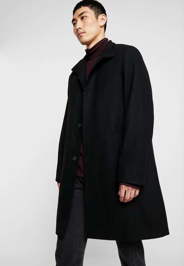 BLEND FUNNEL COAT - Villakangastakki - black