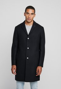 Calvin Klein Tailored - BLEND COAT - Kappa / rock - black - 0