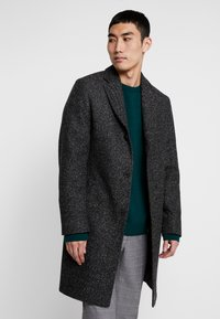 Calvin Klein Tailored - BLEND SPECKLE CROMBY COAT - Zimní kabát - grey - 0