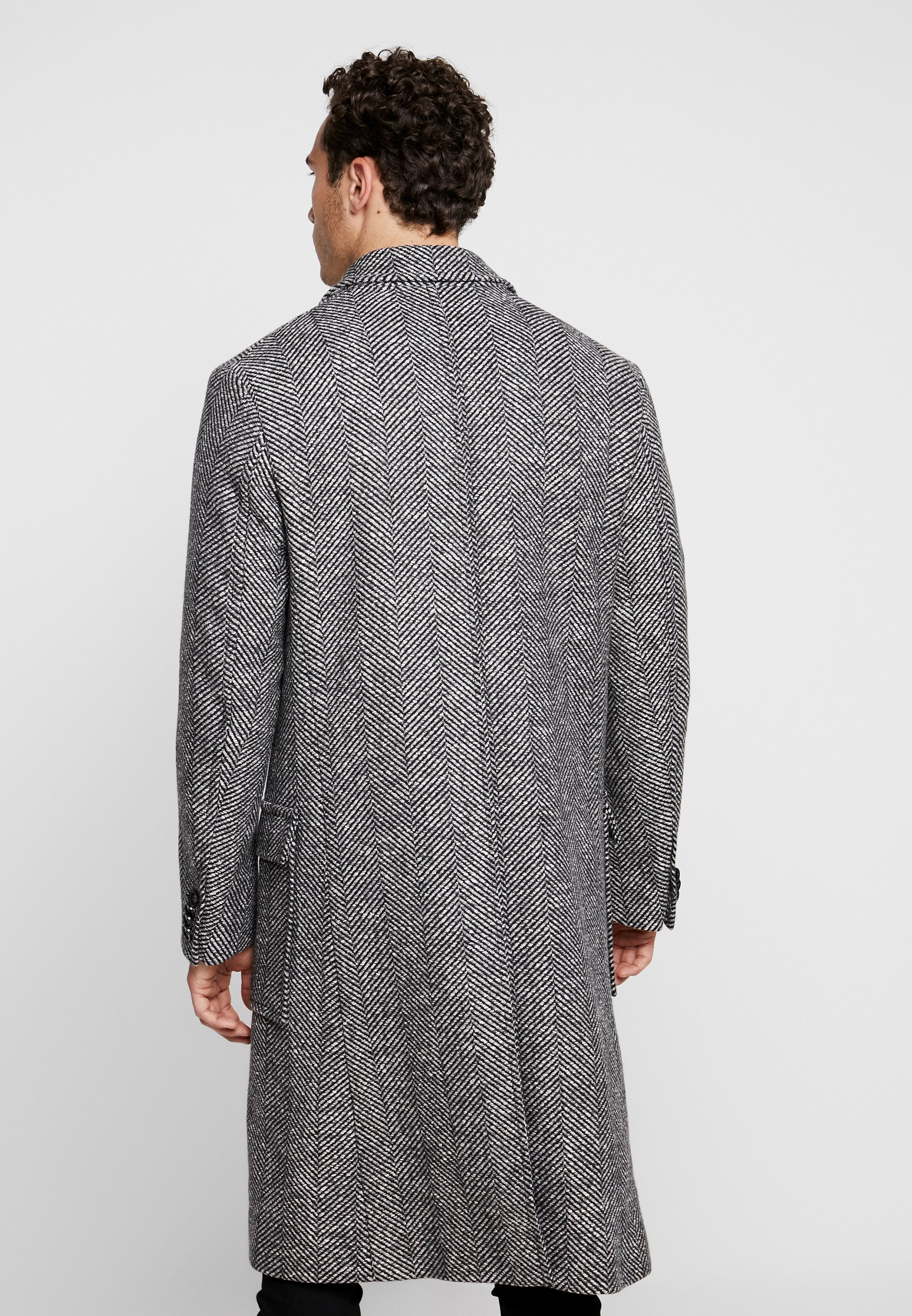 Tailored Exclusive Calvin CrombyManteau Grey Classique Herringbone Klein MGqSUpzV