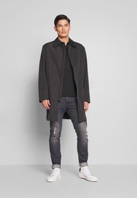 Calvin Klein Tailored - COMPACT NYLON COAT - Villakangastakki - black - 1