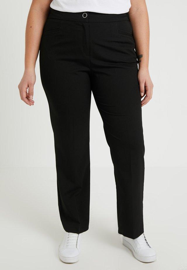 NEW MAGI STRAIGHT LEG TROUSERS - Trousers - black