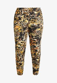 CAPSULE by Simply Be - TAPERED TROUSERS ANIMAL PRINT - Broek - brown/green - 3