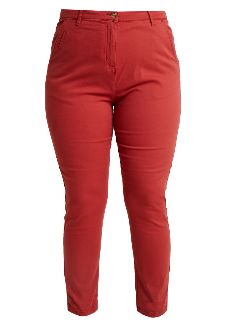 CAPSULE by Simply Be - COMFORT TURN UP - Chinos - henna