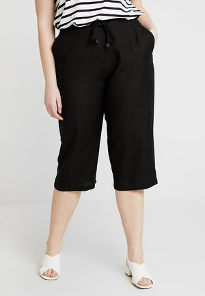 EASY CARE CROP TROUSERS - Shorts - black