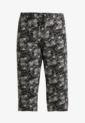 EASY CARE CROP TROUSERS - Short - black/white