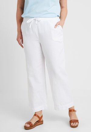 EASY CARE MIX TROUSERS - Kalhoty - white