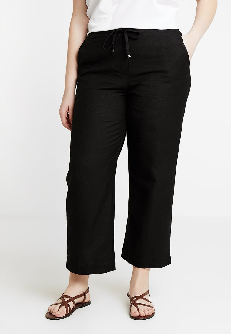 CAPSULE by Simply Be - EASY CARE MIX TROUSERS - Stoffhose - black