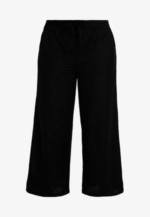 EASY CARE WIDE LEG TROUSER - Pantaloni - black