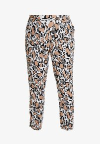 CAPSULE by Simply Be - PRINT CREPE TAPERED TROUSERS - Kalhoty - brown/white/black - 3