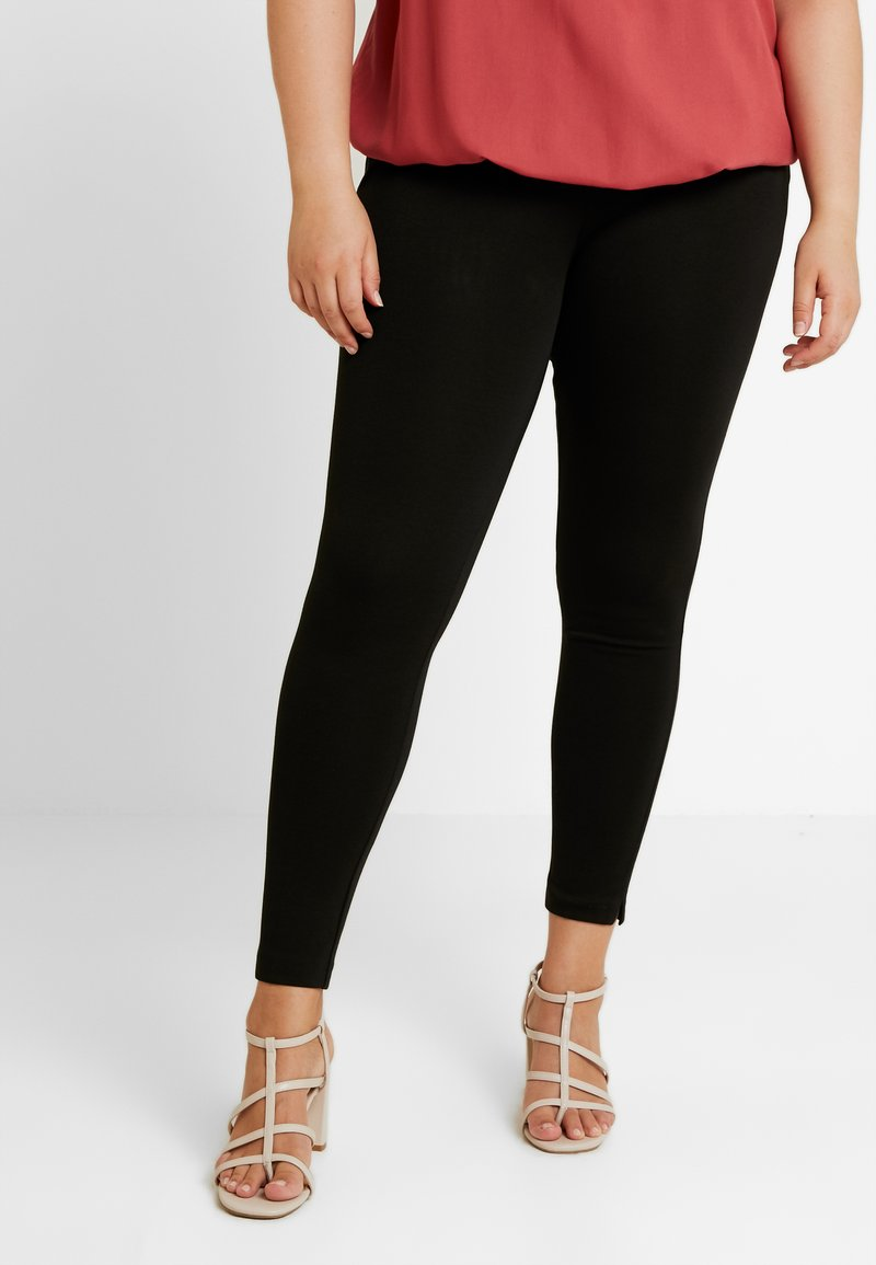 CAPSULE by Simply Be - PONTE TREGGING - Trousers - black