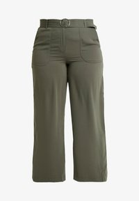 CAPSULE by Simply Be - UTILITY WIDE LEG TROUSER - Pantalones - olive - 4