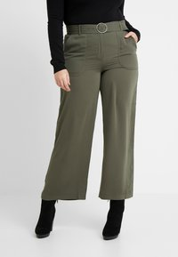 CAPSULE by Simply Be - UTILITY WIDE LEG TROUSER - Pantalones - olive - 0