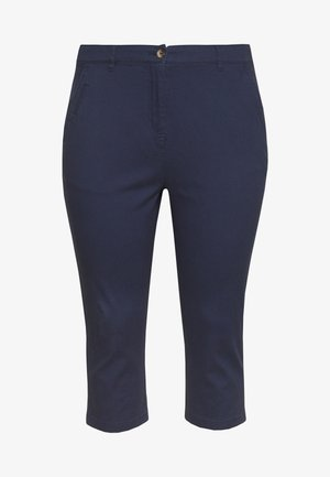 COMFORT STRETCH CROPPED TROUSER - Stoffhose - navy