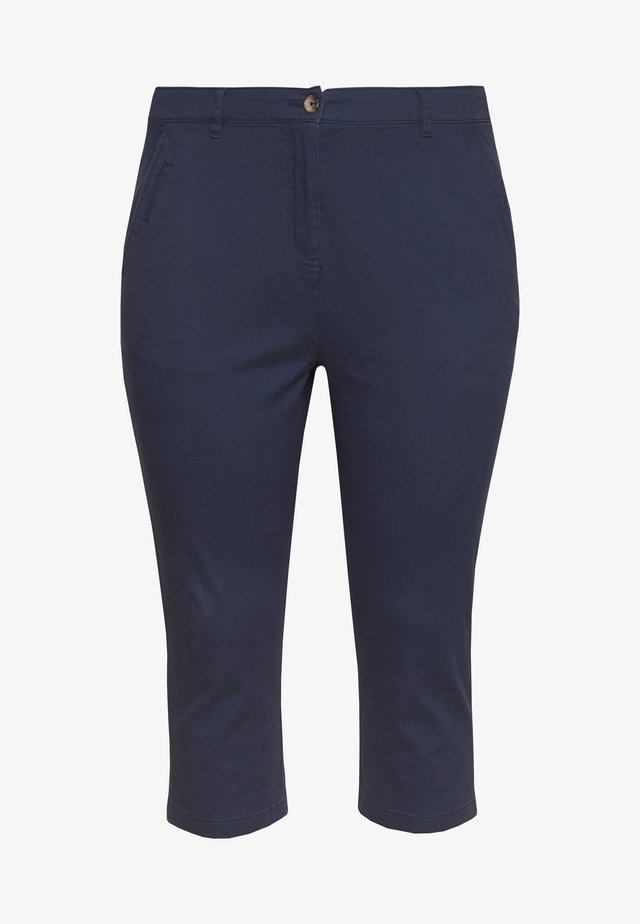COMFORT STRETCH CROPPED TROUSER - Kangashousut - navy