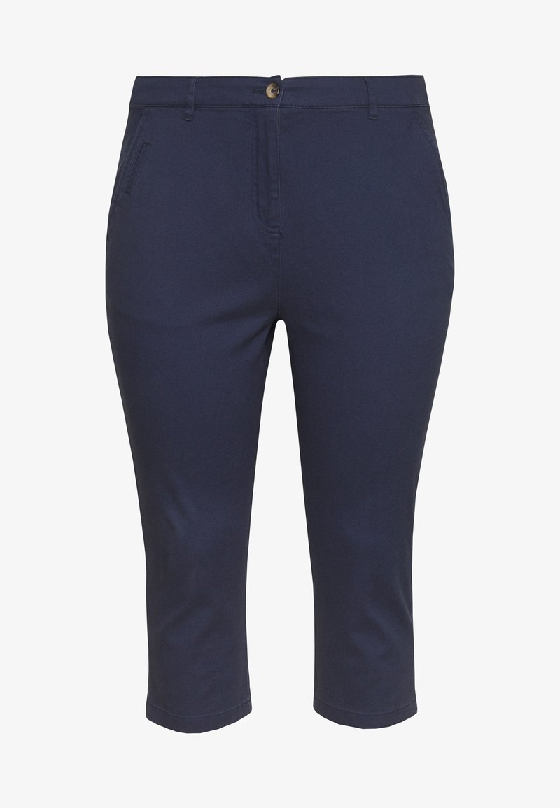 CAPSULE by Simply Be - COMFORT STRETCH CROPPED TROUSER - Trousers - navy
