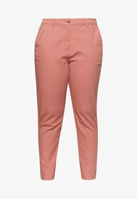 CAPSULE by Simply Be - COMFORT STRETCH TURN UP - Chinos - washed coral - 3