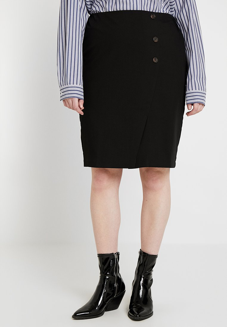 CAPSULE by Simply Be - PENCIL SKIRT - Gonna a tubino - black