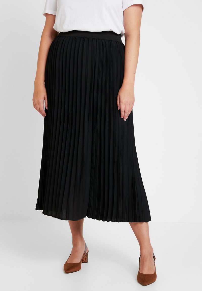 CAPSULE by Simply Be - PLEATED SKIRT PLAIN - Pliceret nederdel /Nederdele med folder - black