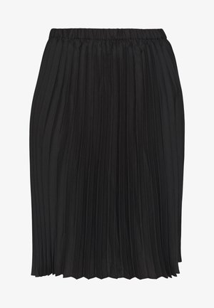 PLEATED SKIRT - Jupe trapèze - black