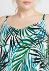 CAPSULE by Simply Be - LAYERED DRESS - Robe longue - ivory/green