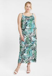 CAPSULE by Simply Be - LAYERED DRESS - Maxi šaty - ivory/green - 1