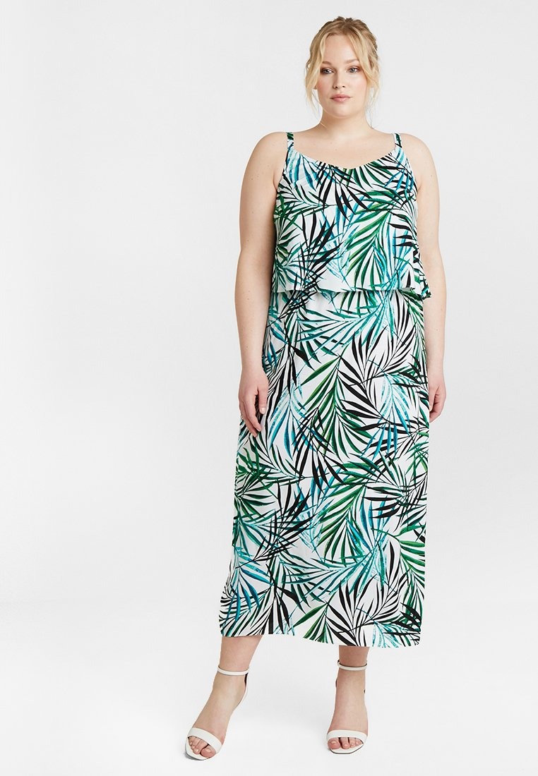 CAPSULE by Simply Be - LAYERED DRESS - Maxi šaty - ivory/green